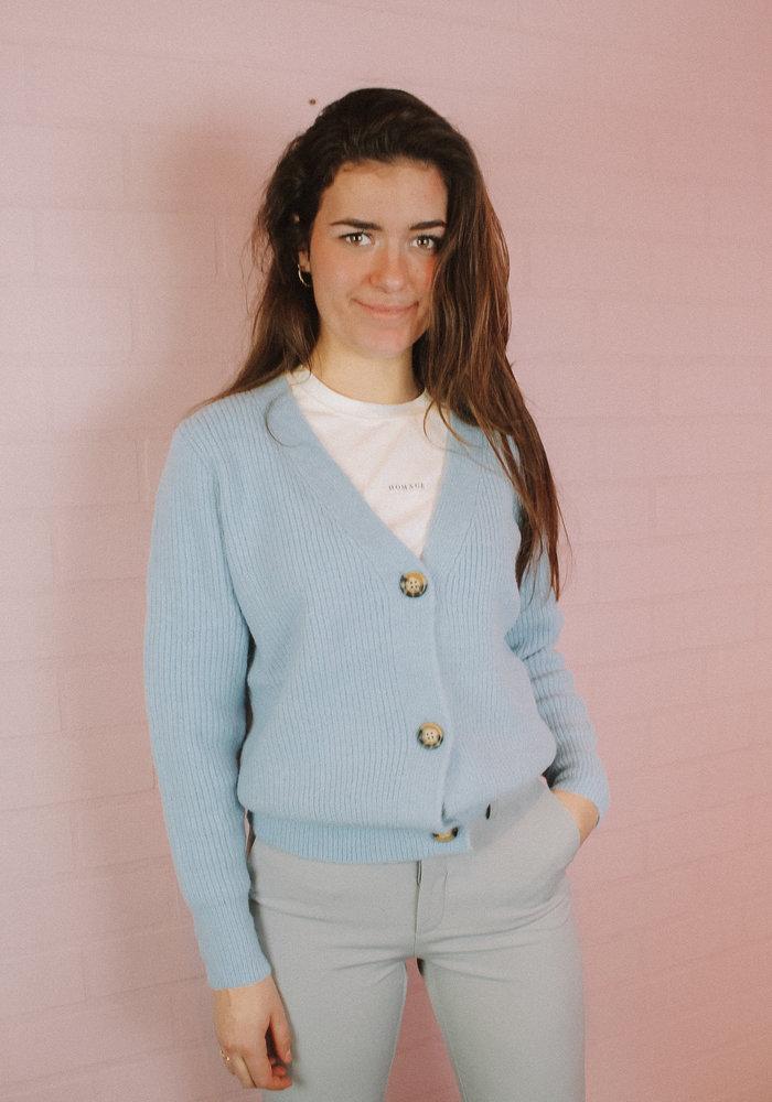 Ratatouille -  Vest Button Licht Blauw