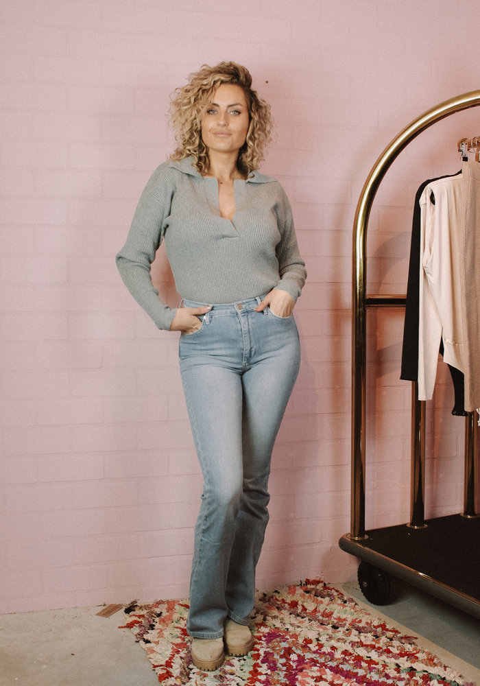 Body by Olcay - Knitted Polo Light Grey Melange