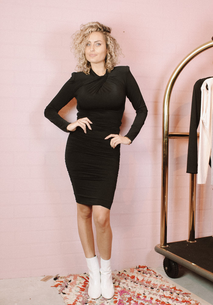 Body by Olcay - Pleated Front Body Black