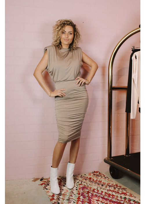 Body By Olcay Body by Olcay - Gathered Skirt in Army