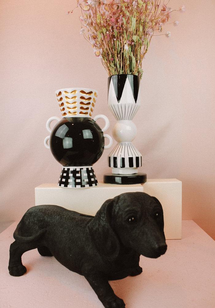 Ratatouille - Vase Graphic Fine Black