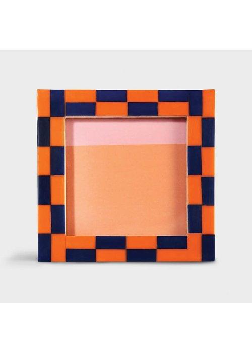 &Klevering - Photoframe check square orange