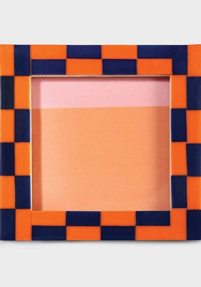 &Klevering - Photoframe check square orange