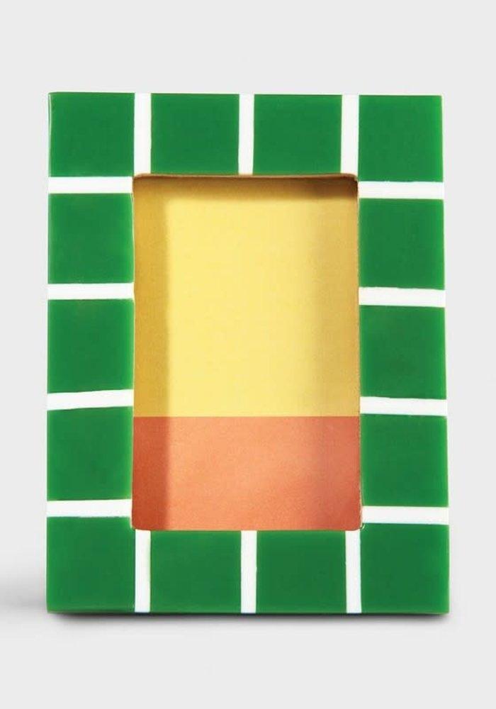 &Klevering - Photoframe check rectangle green