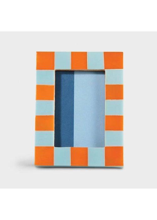 &Klevering - Photoframe check rectangle orange