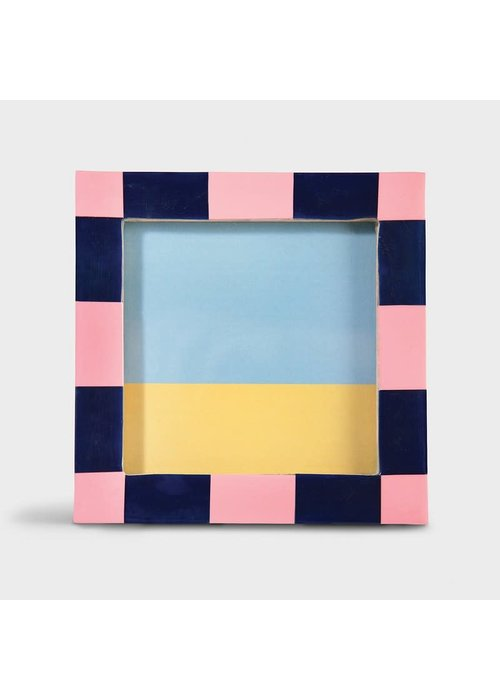 &Klevering - Photoframe check square pink