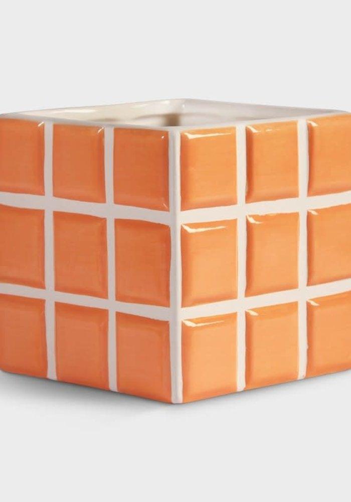 &Klevering - Planter Tile Peach