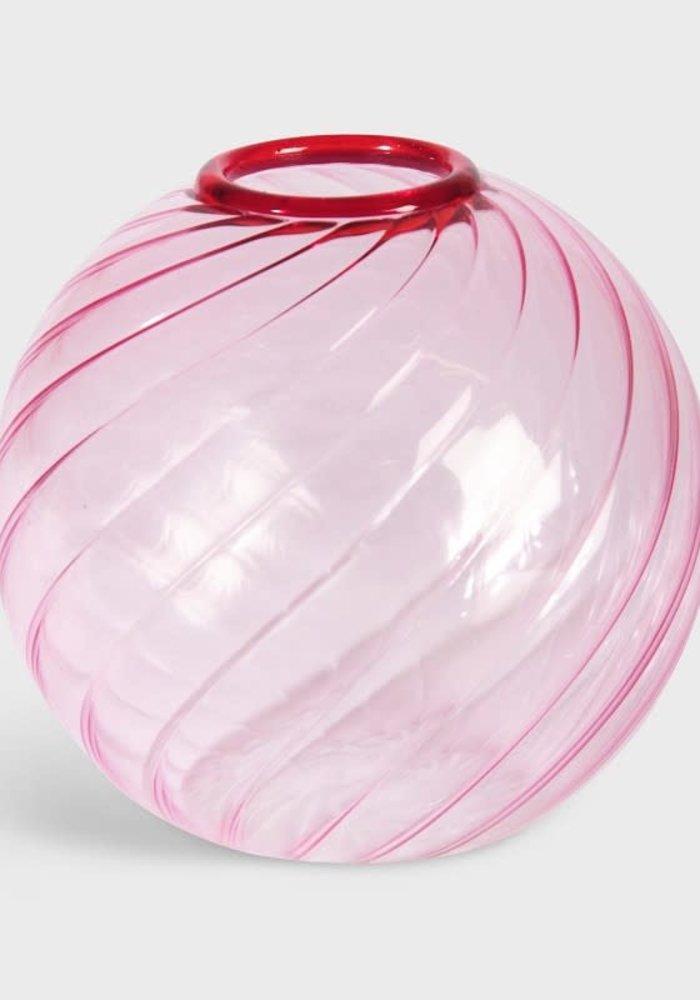 &Klevering - Vase Spiral Pink