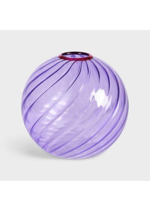&Klevering - Vase Spiral Purple