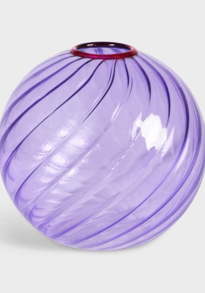 &Klevering - Vase Spiral Purple