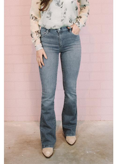 Homage Homage - Flared Jeans Washed Blue