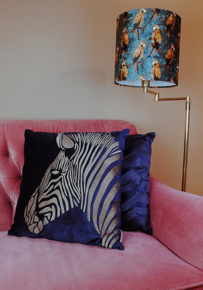Ratatouille - Kussen Zebra Blue Gold