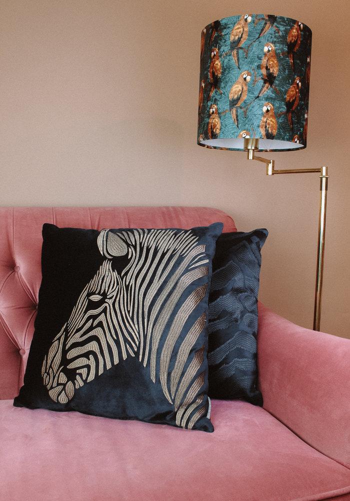 Ratatouille - Kussen Zebra Velvet Blue