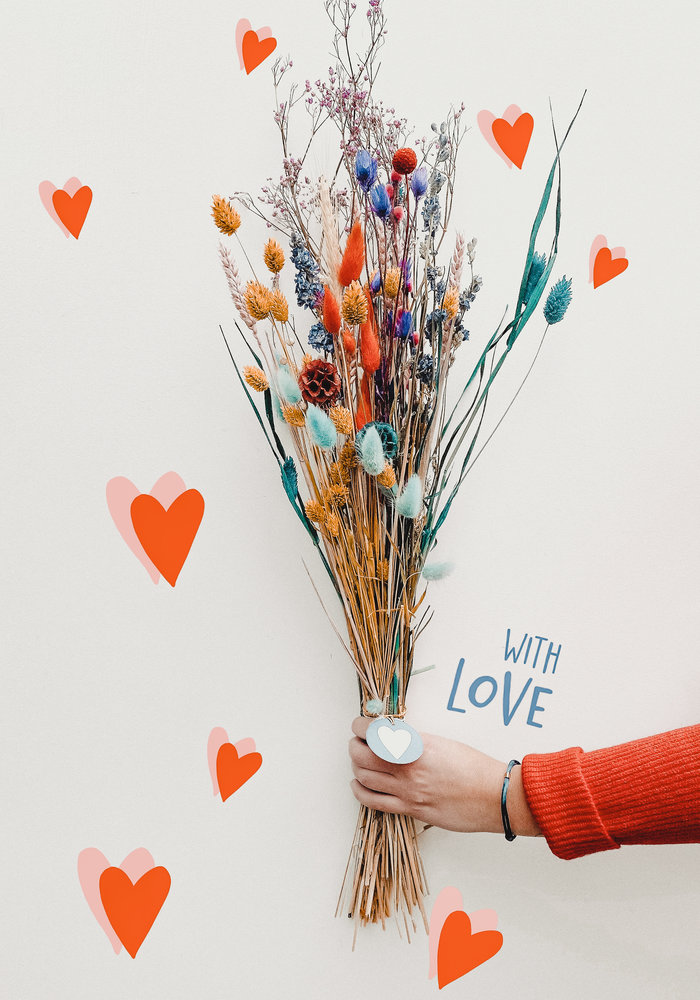 Valentijnsboeket - Multicolour