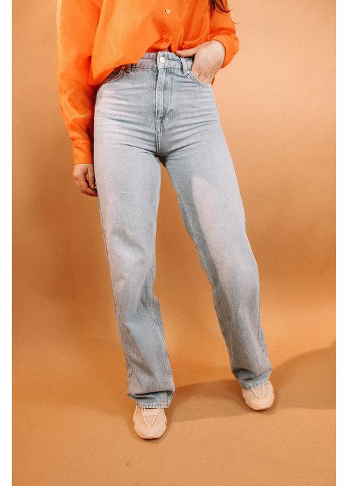 Alix Alix - ladies woven wide leg jeans denim blue