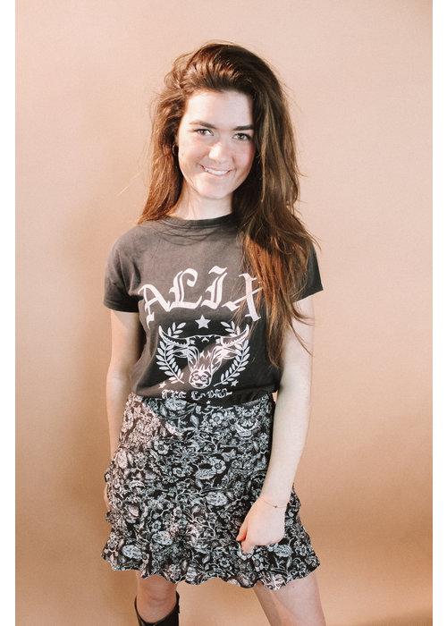 Alix Alix - ladies knitted Alix university T-shirt black
