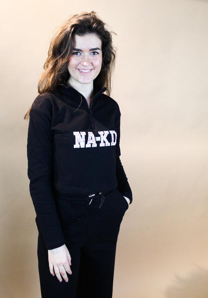 NAKD - Cropped NA-KD Sweater Black