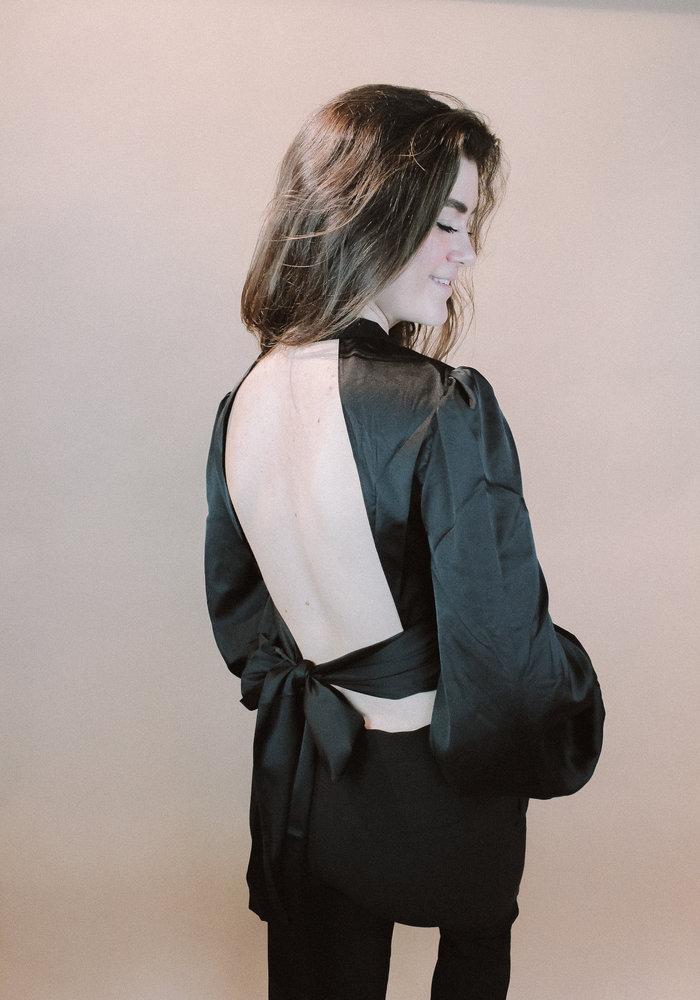NAKD - Open Back Blouse Black