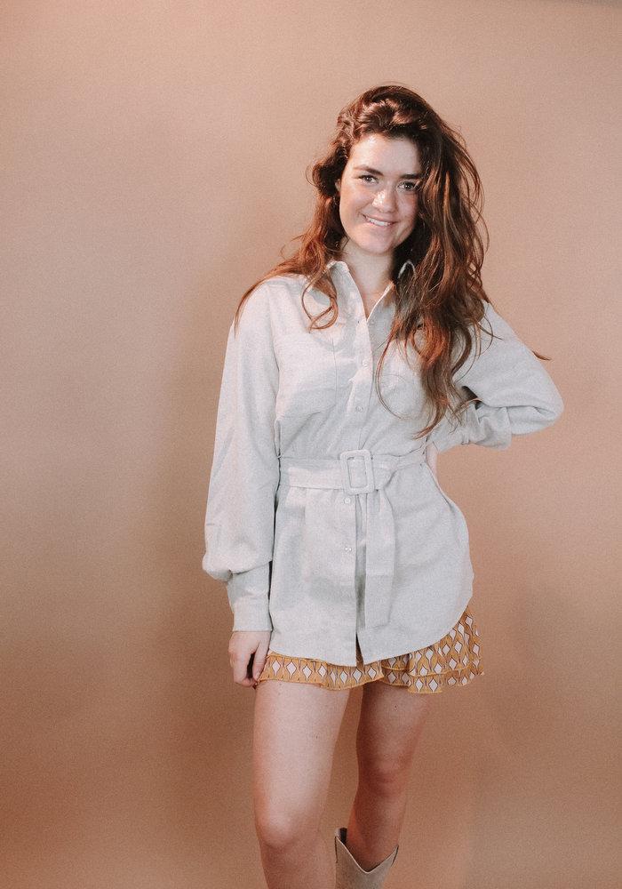 NAKD - Oversized Wool Blend Shirt Jacket Light Grey