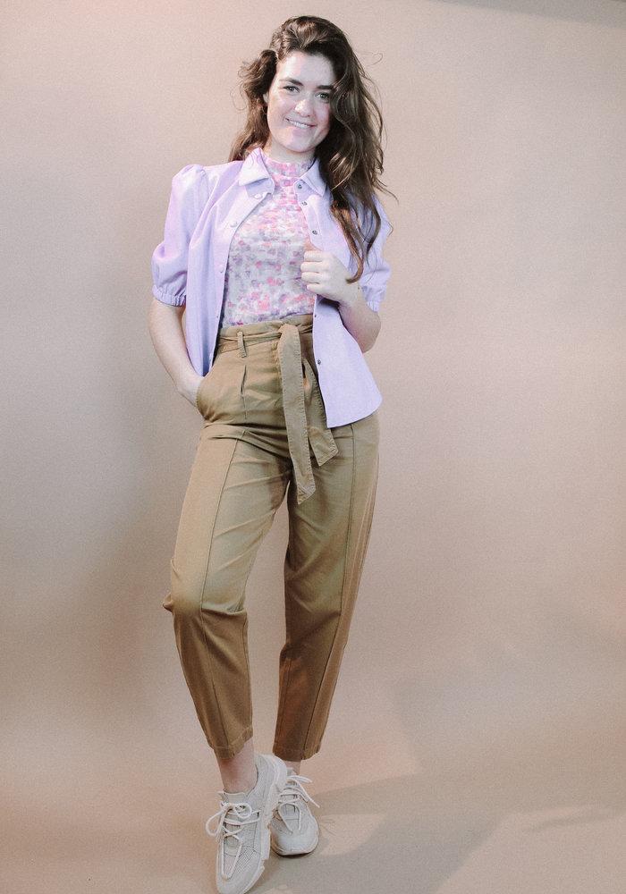 NAKD - Short Puff Sleeve  Blouse Lilac