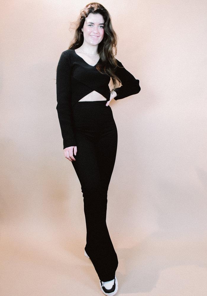 NAKD - Crossover Sweater Black