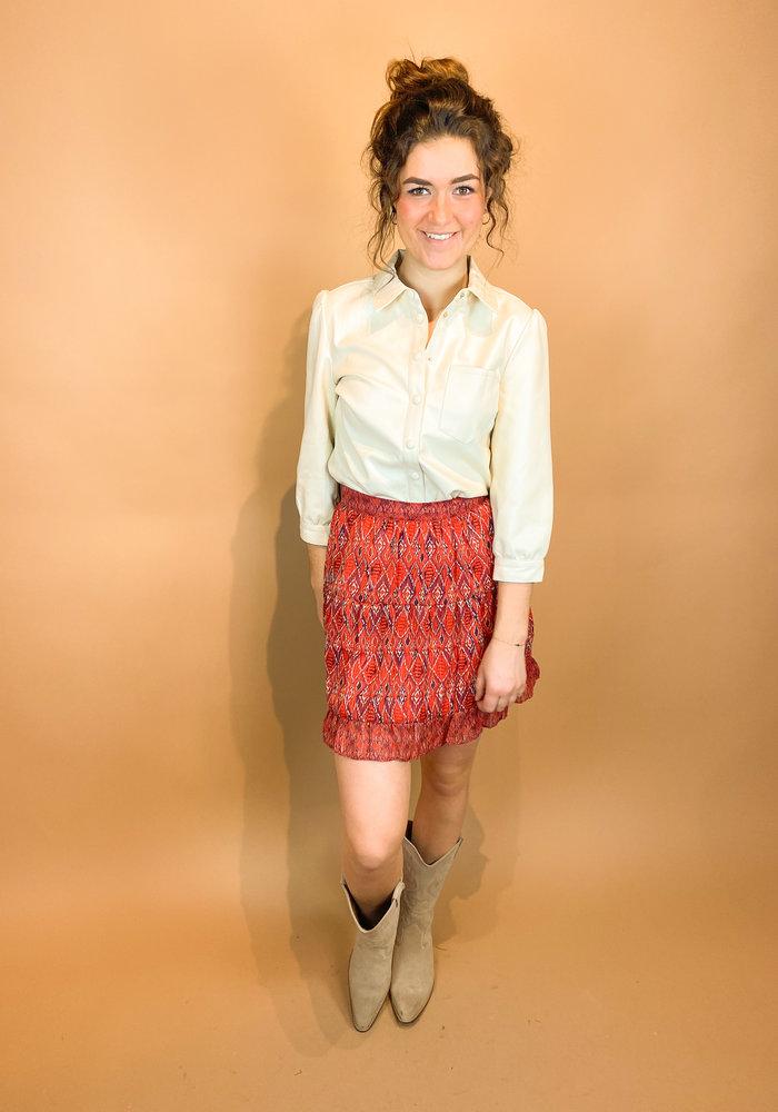 Harper & Yve - Fayen Skirt Red