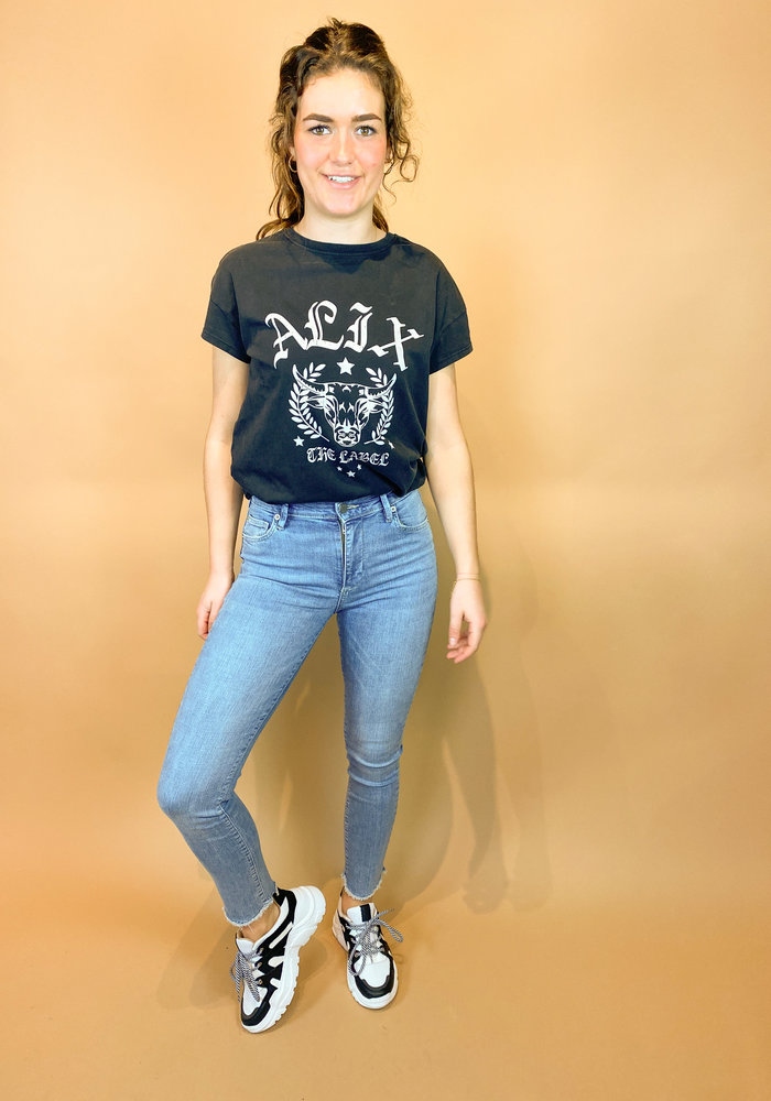 Homage - Brooke - Cropped Slim Jeans With Scalloped Edge - Light Vintage
