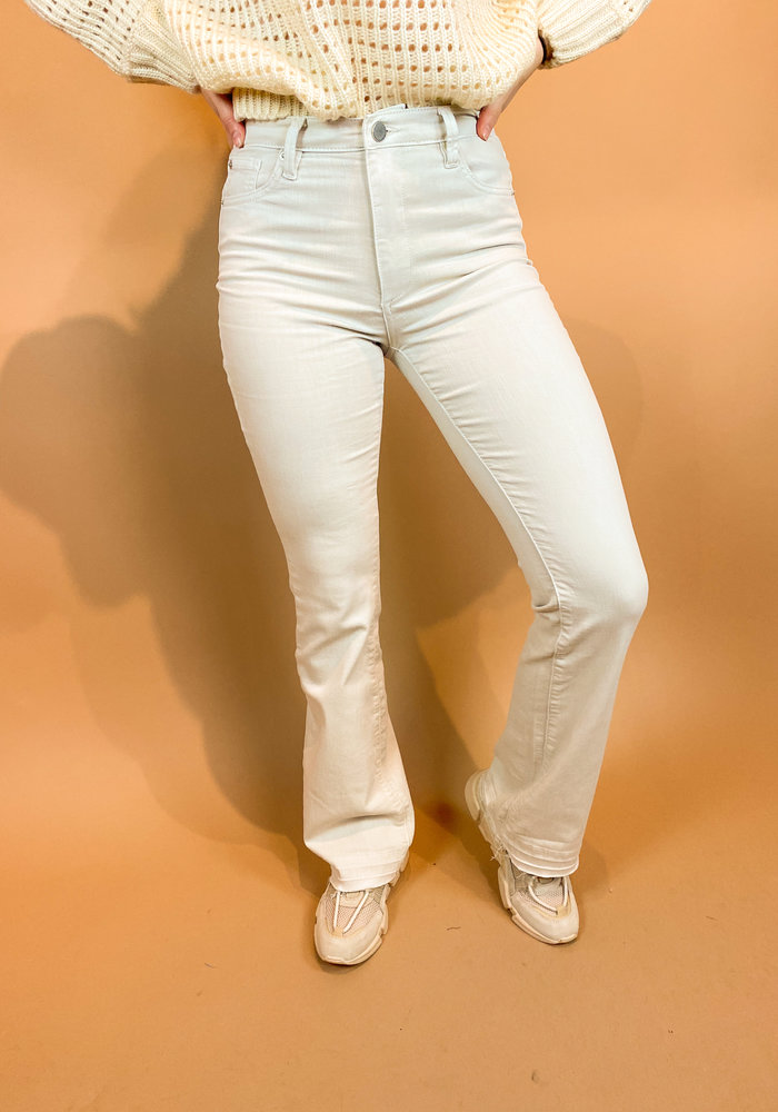 Homage - Jane - Colored Flared Jeans With Raw Edge - Stone