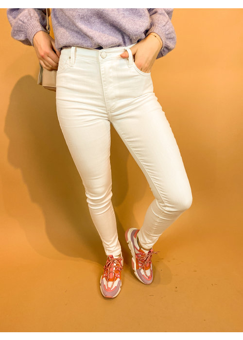 Homage Homage - Jagger - Colored Skinny Jeans - Off White