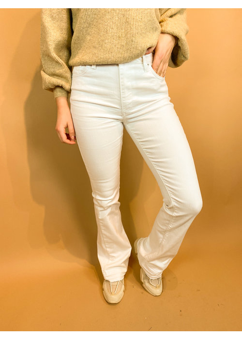 Homage Homage - Jane - Colored Flared Jeans With Raw Edge - Off White