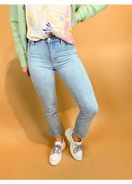 Homage Homage - Debbie - Cropped Flared Jeans - Bleached