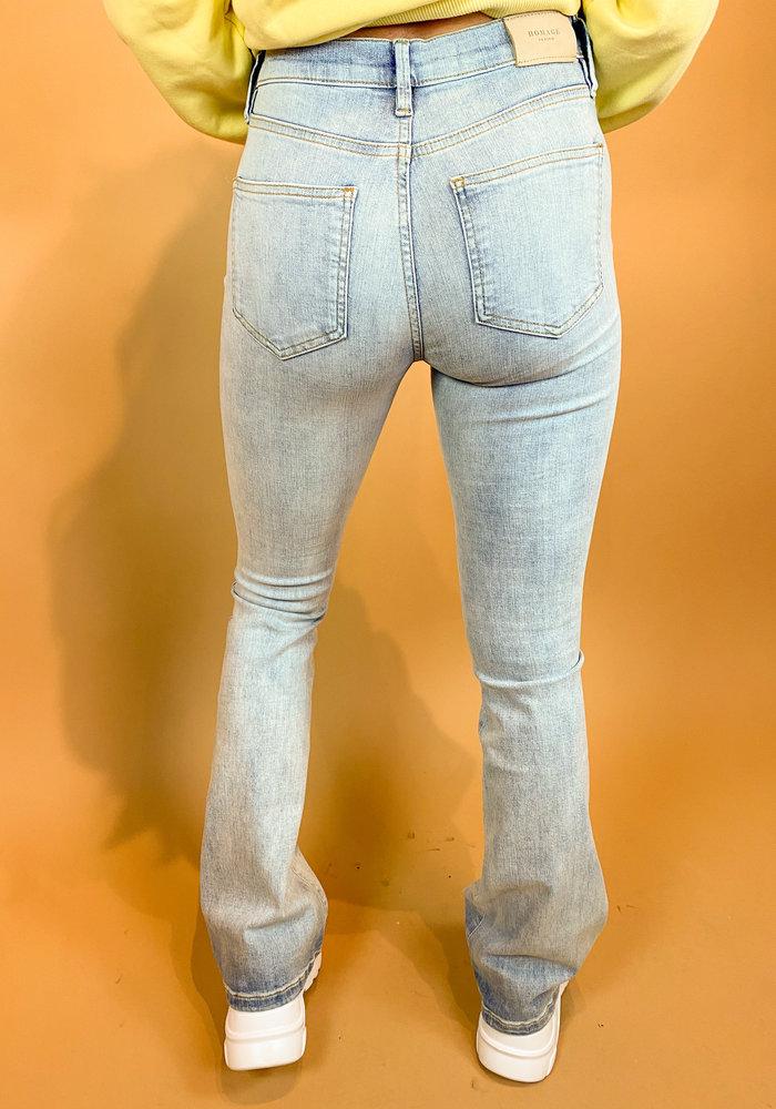 Homage - Jane - Flared Jeans - Light Wash