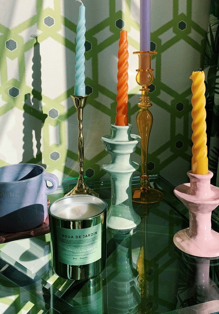 Anna + Nina - Candle Holder Pistachio Green Big