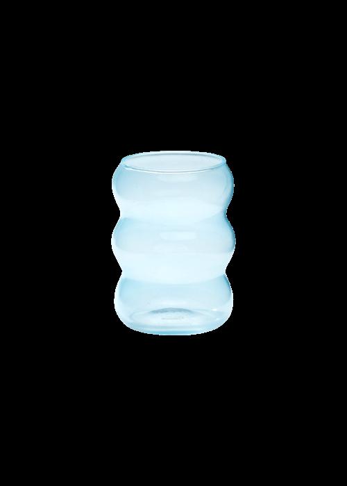 Anna + Nina - Bubble Water Glass Sea Blue