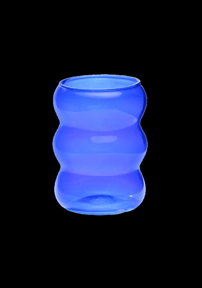Anna + Nina - Bubble Water Glass Cobalt Blue