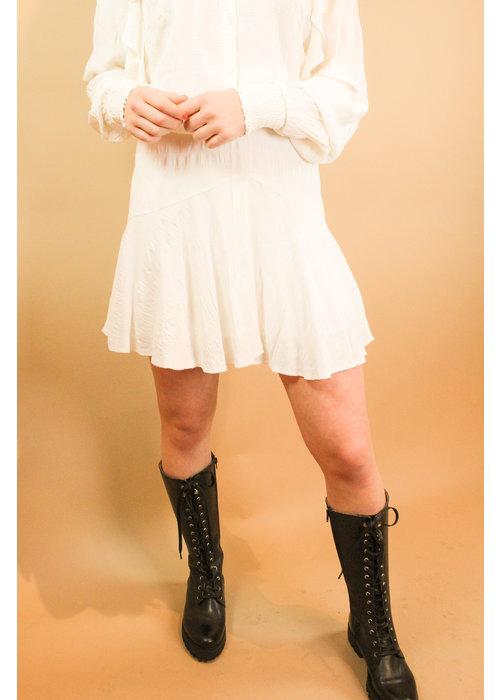 Alix Alix - Ladies woven seer sucker stripe skirt soft white
