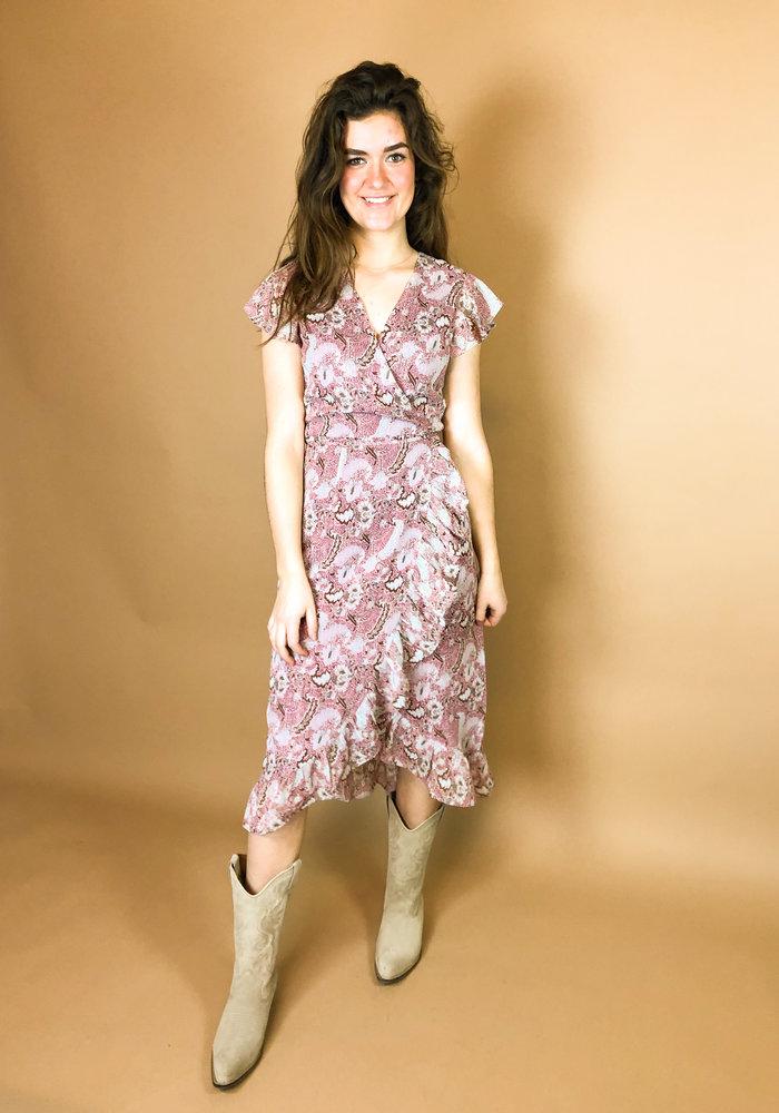 Freebird - Rosy Midi Dress Burgundy
