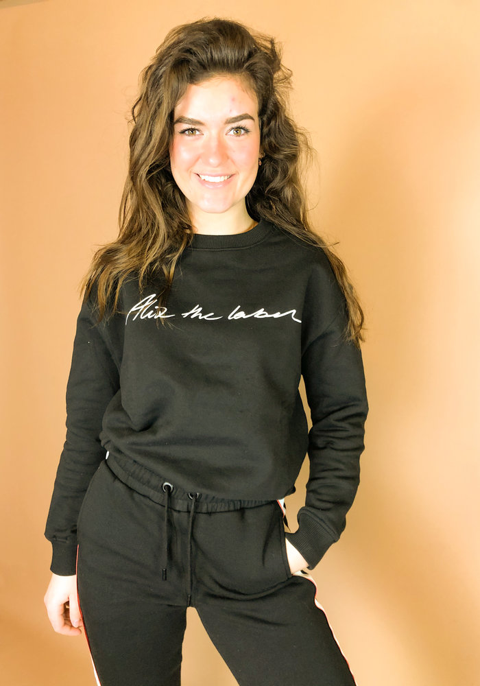 Alix - Ladies knitted Alix the label sweater black