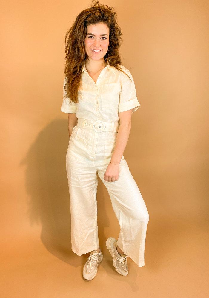 NAKD - Short Sleeve Linen Jumpsuit