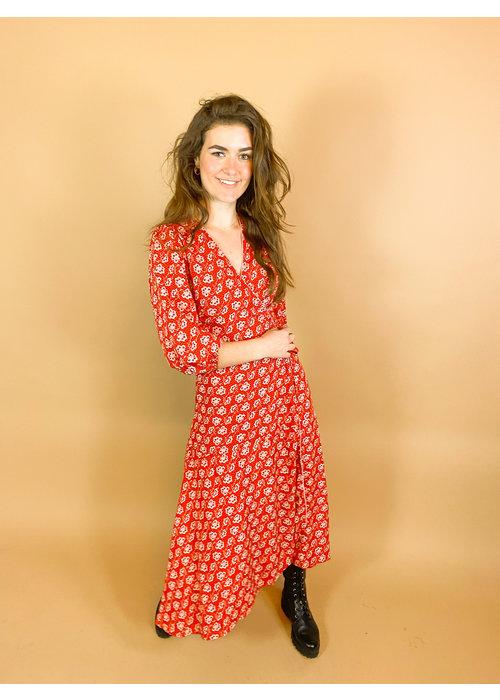 Freebird Freebird - Belia Red Maxi Dress