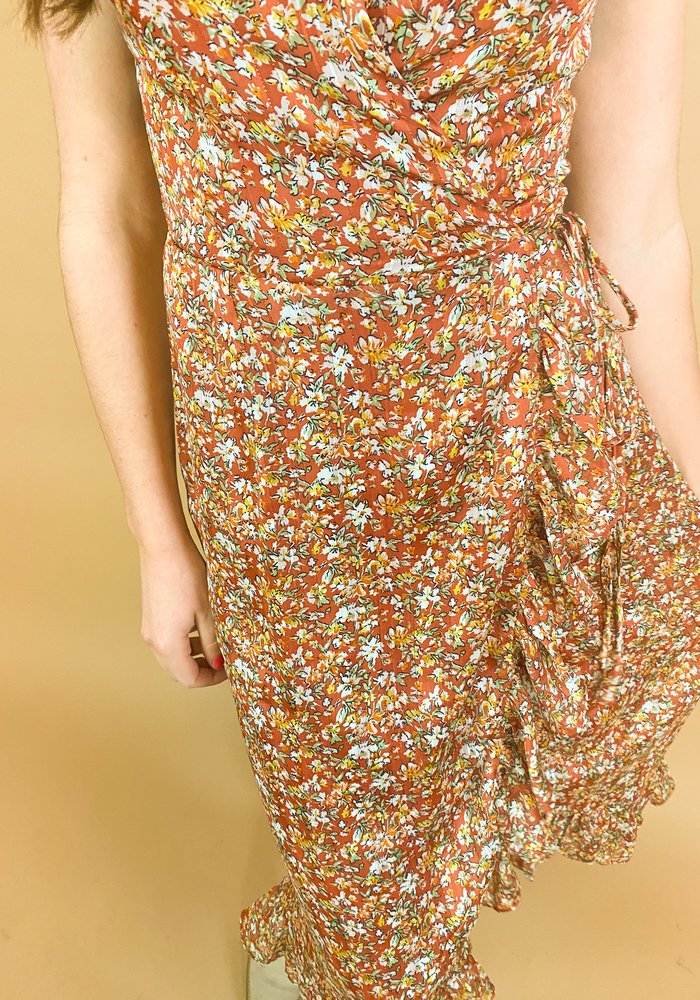 Freebird - Rosy Midi Dress Orange