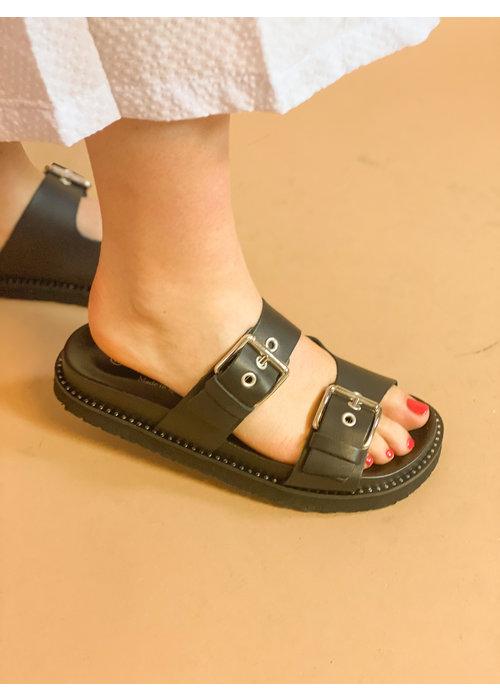 redesigned Redesigned - Nakia slipper Black