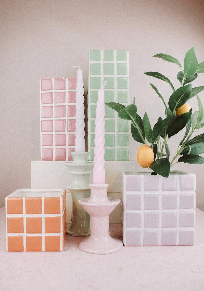 &Klevering - Vase Tile Pink