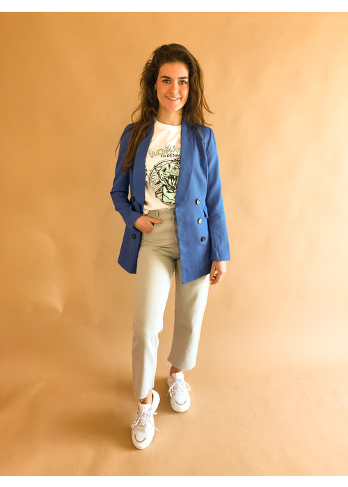 Rut & Circle - Blair Blazer Ocean Blue