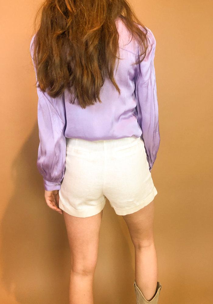NAKD - Highwaist Belted Linen Shorts