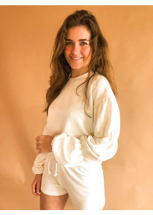 NAKD - Detailed Sleeve Sweatshirt Beige