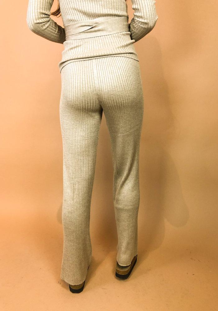 Rut & Circle - Vanessa Knit Pant Mushroom