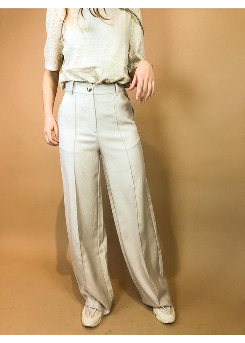 NAKD - Wide Suit Pants Beige