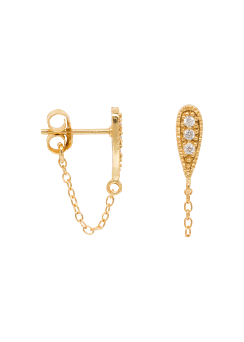 Eline Rosina Eline Rosina - Zirconia drop chain earrings
