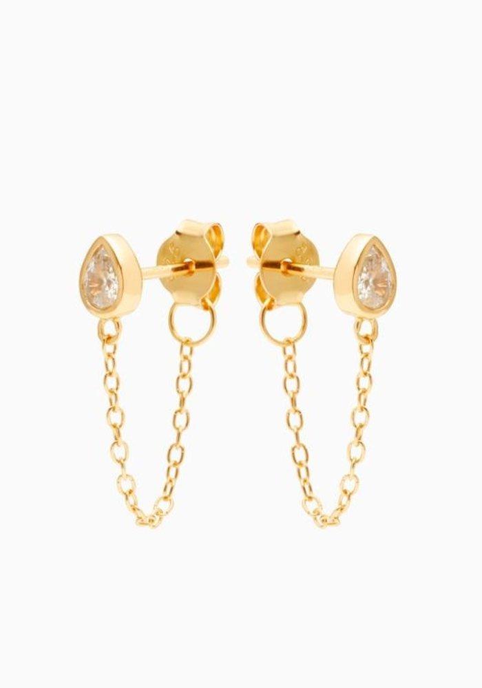Eline Rosina - Drop Chain Earrings (per paar)
